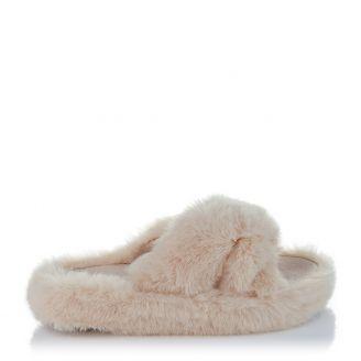 Fur Παντόφλα Cream