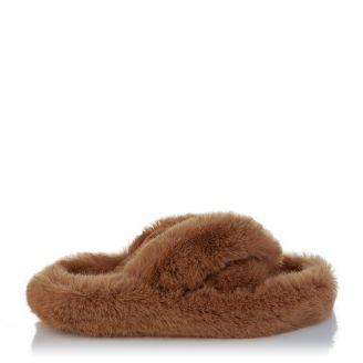 Fur Παντόφλα Κάμελ